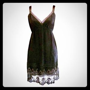Barneys New York CO-OP Black & Brown Slip Dress